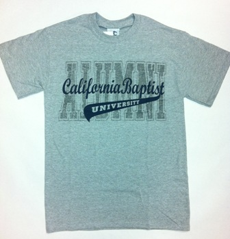 alumni alma mater t shirt california baptist university