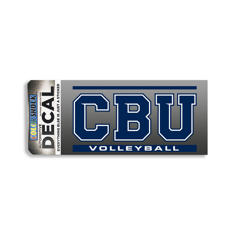Cbu Volleyball Decal