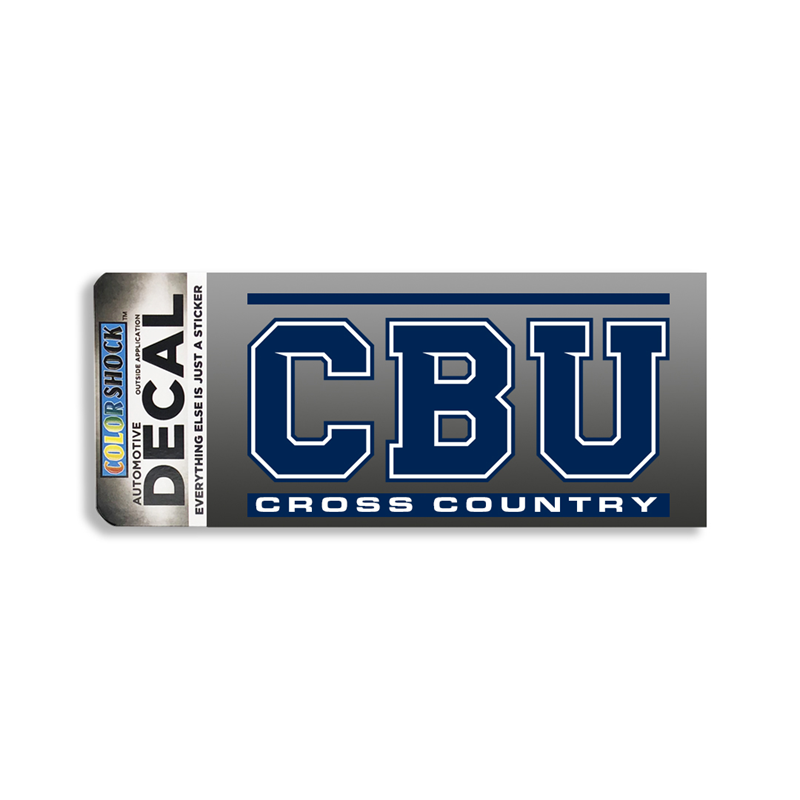 CBU Cross Country Decal (SKU 1063547614)