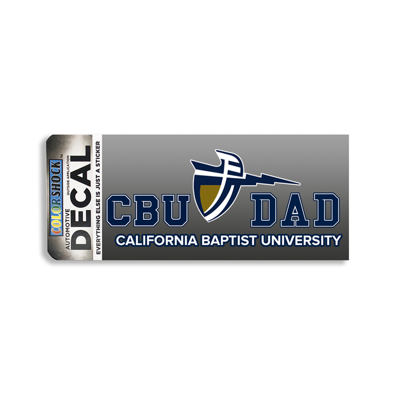 CBU Dad Shield Decal