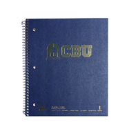 CBU 1 Subject Spiral Notebook