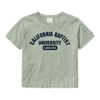 CLOTHESLINE COTTON CROPPED WOMEN'S TEE