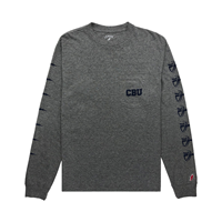 Shield Pattern Ls Pocket Tee